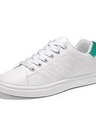 Homme Chaussures Gomme Printemps Automne Confort Chaussures d'Athlétisme Marche Lacet Pour Noir Noir/blanc Blanc et vert