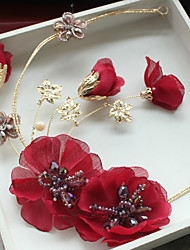 cheap -Tulle Rhinestone Fabric Silk Net Alloy Flowers Hair Clip 1 Wedding Special Occasion Birthday Party / Evening Headpiece