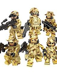 Недорогие -DILONG Конструкторы Военные блоки Фигурки из блоков Армия Soldier Война совместимый Legoing Универсальные Игрушки Подарок / Обучающая игрушка