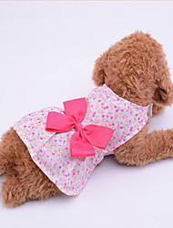 Dog Dress Dog Clothes Casual/Daily Bowknot Purple Blue Blushing Pink