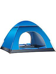 baratos -3-4 Pessoas Tenda Único Barraca de acampamento Ao ar livre Tenda Dobrada Manter Quente Prova-de-Água para Acampar e Caminhar Campismo