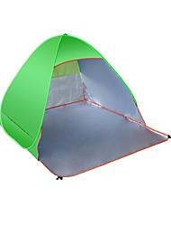3-4 Personen Zelt Einzeln Camping Zelt Einzimmer Strandzelt Belüftung Feuchtigkeitsundurchlässig Tragbar UV-resistant Anti-Ausrottung Zelt