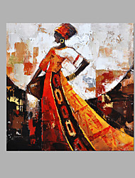 IARTS® Hand Painted Oil Painting Paris Fashion Show Case Style Two Wall Art Acrylic Canvas Wall Art For Home Decoration