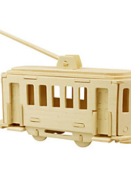 Недорогие -3D пазлы Пазлы Металлические пазлы Деревянные игрушки Наборы для моделирования Автомобиль 3D Своими руками Дерево Натуральное дерево