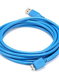 USB 3.0 Cable, USB 3.0 to USB 3.0 Micro-B Cable Macho - Macho 1,5 m (5 pies)