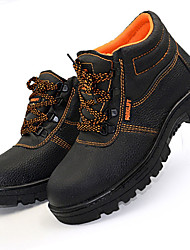 cheap -Men's Boots Comfort Spring Fall Leatherette Athletic Casual Outdoor Lace-up Low Heel Black Under 1in