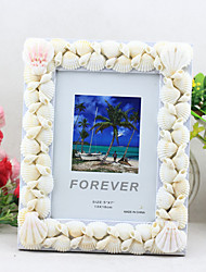 2 PC Picture Frames Modern/Contemporary Casual Novelty Shell Craft