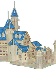 cheap -3D Puzzles Jigsaw Puzzle Wood Model Model Building Kit Castle Famous buildings House Architecture 3D DIY Wood Classic Unisex Gift