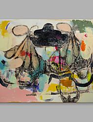abordables -Peinture à l'huile Hang-peint Peint à la main - Abstrait Abstrait Toile