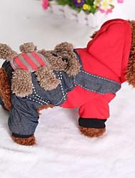 economico -Gatto Cane Tuta Abbigliamento per cani Casual Jeans Costume Per animali domestici