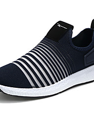 Men's Sneakers Light Soles Summer Fall Net Casual Outdoor Office & Career Side-Draped Low Heel Black Dark Blue Light Grey Under 1in
