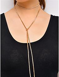 cheap -Women's Irregular Personalized Fashion Multi-ways Wear Euramerican Simple Style Choker Necklace Collar Necklace Rhinestone Rhinestone