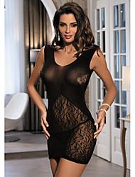 economico -indumenti da notte fantasia delle donne& pigiama da notte ultra sexy loungewear, nero sexy jacquard