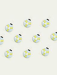 cheap -10pcs 1W 75lm G4 LED Bi-pin Lights 6 LED Beads SMD 5630 Warm White White 12V