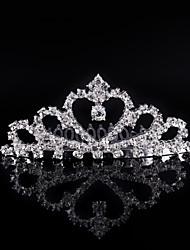 baratos -Crystal rhinestone liga tiaras cabelo pente cabeça estilo elegante