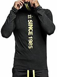 Tee-shirt Homme,Couleur Pleine Lettre Sports Sortie Décontracté / Quotidien Grandes Tailles simple Actif Punk & Gothique Printemps Automne