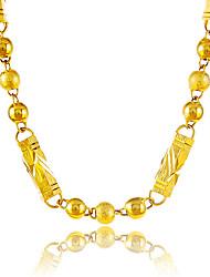 preiswerte -Herrn / Damen Ketten  -  vergoldet Kugel Einzigartiges Design, Retro Gold Modische Halsketten Für Party, Besondere Anlässe, Herzliche Glückwünsche