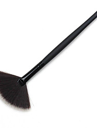 1pcs High Quality Fan Wood Handle Brush Portable Slim Professional Top Foundation Makeup