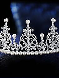 abordables -perla aleación tiaras pelo herramienta casco clásico estilo femenino