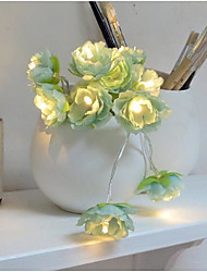 2 Meters 20 Lamp Small Silk Flowers Creative Flower Lamp String/Small Silk Flower Lantern Lamp/Wedding Decoration LED Battery Lamp Lamp