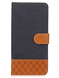 cheap -Case For Samsung Galaxy A5(2017) A3(2017) Card Holder Wallet with Stand Flip Embossed Full Body Cases Solid Color Hard PU Leather for