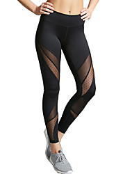 cheap -Women's Medium Stitching Solid Color Sporty Legging,Solid Black