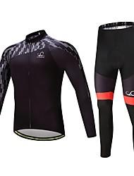 baratos -Manga Longa Calça com Camisa para Ciclismo Moto Conjuntos de Roupas, Térmico/Quente