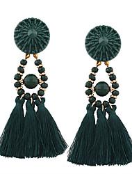 cheap -Women's Beaded / Tassel Drop Earrings - Personalized, Tassel, Bohemian Green / Blue / Pink For Wedding / Anniversary / Housewarming