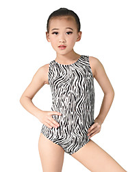 cheap -Ballet Leotards Women's Children's Performance Elastic Elastane Sequined Lycra Pattern/Print Paillette Sleeveless Natural Leotard