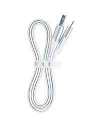 USB 2.0 Type-C Plaqué or Charge rapide Portable Haut débit Câble PourMacBook MacBook Air MacBook Pro Samsung Huawei Sony Nokia HTC