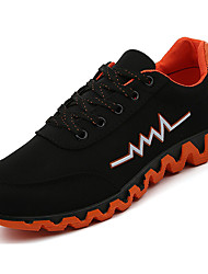 cheap -Men's Shoes PU Spring Fall Light Soles Comfort Athletic Shoes Running Shoes Lace-up for Athletic Orange Green Blue