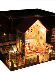 abordables -Kit de Maquette A Faire Soi-Même Maison Bois Naturel Classique Pièces Unisexe Cadeau