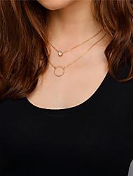 Жен. Ожерелья-бархатки Ожерелья с подвесками Ожерелья-цепочки Стразы В виде подвески Мода Multi-Wear способы Euramerican Простой стиль