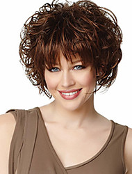 cheap -Synthetic Wig Wavy With Bangs Women's Capless Natural Wigs Short Synthetic Hair