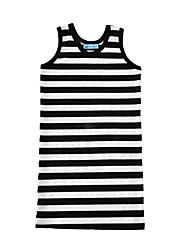 Girl's Striped Dress Cotton Summer Sleeveless Kids Girls Fashion Dresses