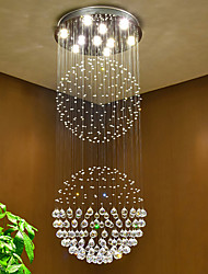 LED Crystal Ceiling Pendant Light Indoor Chandeliers Home Hanging Lighting Lamps Fixtures with 5W LED WARM WHITE Bulbs
