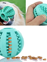 cheap -Cat Toy Dog Toy Pet Toys Ball Chew Toy Interactive Toothbrushes Easy Install Elastic Food Dispenser Fun Football Durable Rubber For Pets