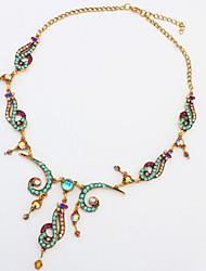 Women's Girls' Choker Necklaces Pendant Necklaces Statement Necklaces Rhinestone Oval Jewelry Rhinestone AlloyBasic Unique Design Pendant
