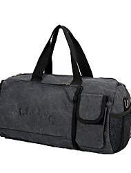 15L Fitness Handbag Yoga Canvas Sports Bag Shoulder Bag Travel Bag Portable Waterproof Luggage Bag Camping Hiking Training Handbag