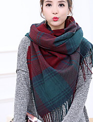 Cashmere Scarf Plaid Grid Tassel Large Thickening Lengthening Women's Korea Scarves Shawl Long Rectangle Winter Lady's Valentine Christmas Gift