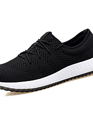Men's Athletic Shoes Comfort Spring Fall Tulle Walking Shoes Casual Lace-up Flat Heel Black Orange Gray Navy Blue 2in-2 3/4in