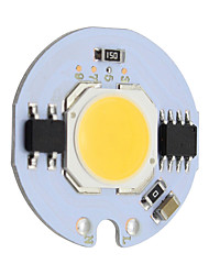 abordables -9w round cob led chip smart ic ac 220v pour diy plafonnier downlight spotlight chaud / froid blanc (1 pièce)