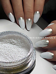 cheap -1g/Bottle Hot Fashion Gorgeous Silver Magic Mirror Effect Pigment Nail Art Glitter Powder Manicure DIY Beauty Dust Shiny  Chrome Powder Decorations 4#