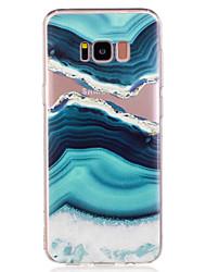 billiga -fodral Till Samsung Galaxy S8 Plus / S8 Mönster Skal Landskap / Marmor Mjukt TPU för S8 Plus / S8 / S7 edge