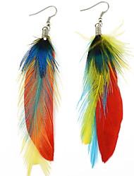 Drop Earrings Women's Euramerican Fashion Personalized Feather Long Earrings For Women Casual Party Statement Movie Jewelry