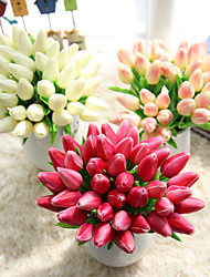 1 Branch Plastic Tulips Tabletop Flower Artificial Wedding Supplies Home Furnishing Decoration 10 Head
