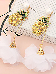 Women's Drop Earrings Rhinestone Basic Unique Design Flower Style Dangling Style Flowers Friendship Adorable Personalized Hip-Hop