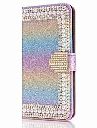 For Samsung Galaxy S8 Plus S8 Case Cover Card Holder Wallet Rhinestone with Stand Flip Magnetic Full Body Case Glitter Shine Hard PU Leather