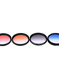 Andoer professional 52mm gnd graduado filtro set gnd4 (0.6) cinza azul laranja vermelho graduado filtro de densidade neutra