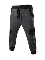 Men's Mid Rise strenchy Loose Pants,Active Relaxed Solid